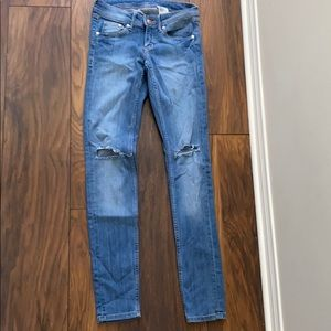 Ripped skinny H&M blue jeans